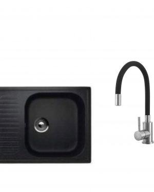 Chiuveta bucatarie semipicurator 202-308 si Baterie  MIXXUS